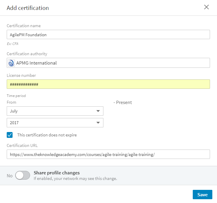 How To Add Your Agile Certification Onto Your Linkedin Profile