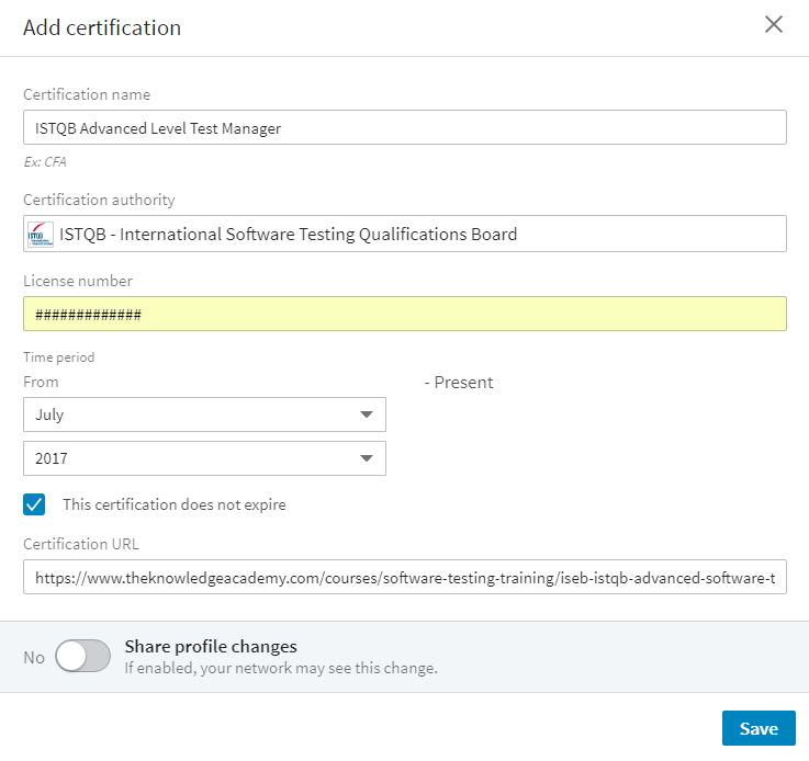 How to add your Software Testing Certification to your LinkedIn ...